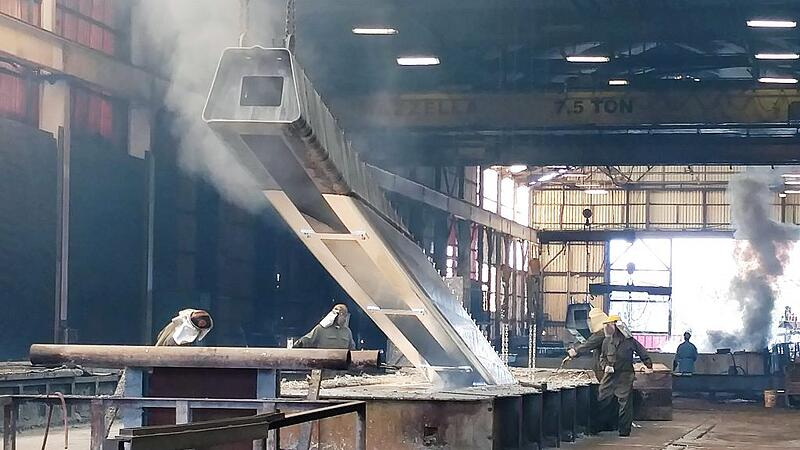 Galvanization of a formed and welded Bridge Girder