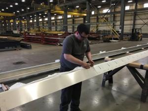 Unpackaging Stainless Steel Rail Parts