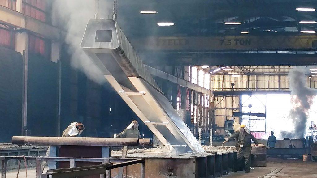 From the Floor - Bridge Girder Fabrication Part 3 - Galvanization