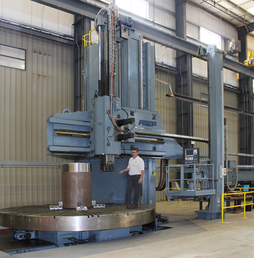 AT&F Expands Machining Capabilities with New CNC Heavy-Duty Vertical Boring Machine